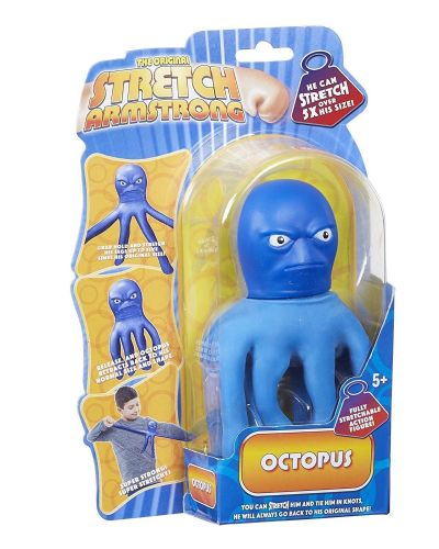 Mini Stretch Armstrong  - Blue OCTOPUS  - Super Stretchy Fun - NEW